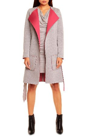Peperuna Jenny Coat in Gray and Pink