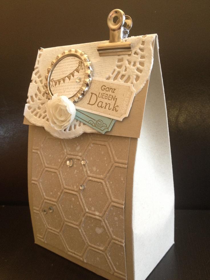 Beautiful gift bag/box....Stampin Up
