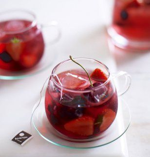 Thé glacé aux fruits rouges - Iced tea with berries