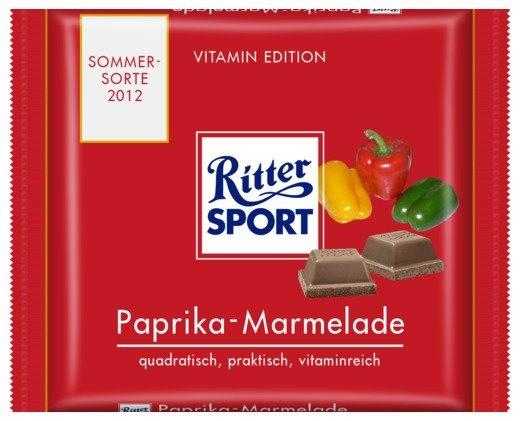 RITTER SPORT Fake Schokolade Paprika-Marmelade