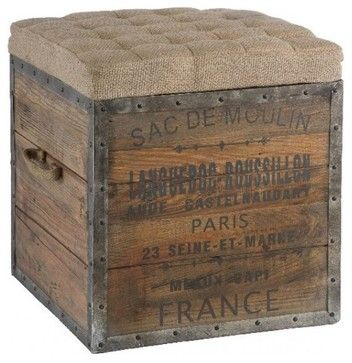 Wooden Cube - industrial - ottomans and cubes - Masins Furniture