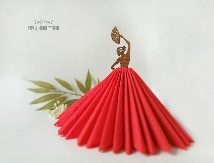NAPKIN HOLDER Dancing Lady – Wedding Table decor – Laser cut wood Centerpiece