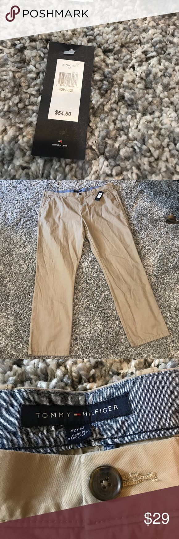 NWT Tommy Hilfiger Men's Khaki Pants 42W 32L New with Tags! Awesome Tommy Hilfiger pants! Reasonable offers accepted! Bundle for a private discount! Tommy Hilfiger Pants Chinos & Khakis