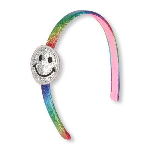Girls Happy Emoji Glitter Rainbow Headband - Multi - The Children's Place