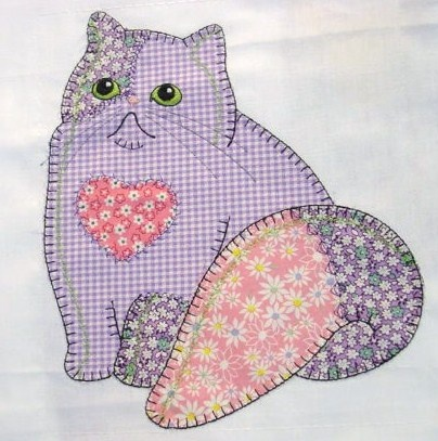 This is a Claire's Cat digitized by Anna Aldmon. It looks just like it was stitched by hand.... Sew cute!