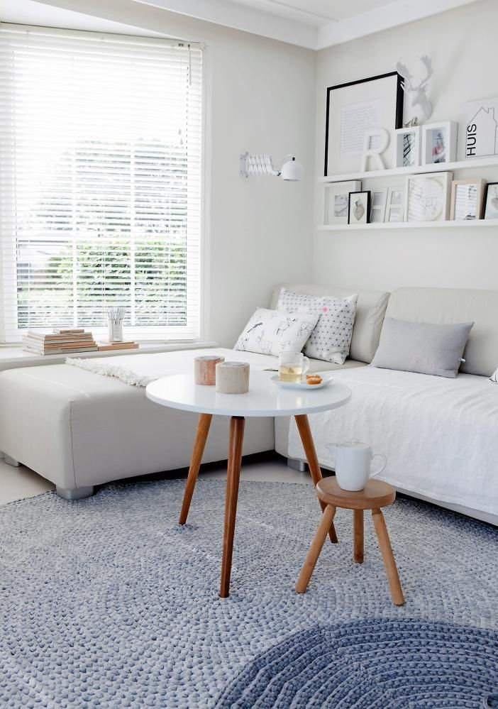un salon à la mode scandinave #blanc #salon #deco
