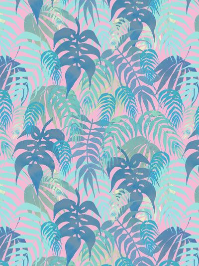 LOST - Pastel Art Print by Schatzi Brown #tropical #pastel #pattern