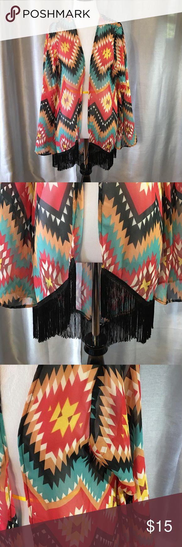 American Rag Aztec print cardigan American Rag Aztec print cardigan size small/medium. Cute with a solid black dress. American Rag Sweaters Cardigans
