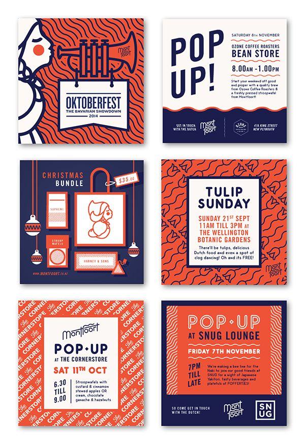 Bello proyecto de branding de la mano del estudio de diseño neozelandés Playhouse para la cafetería Montfoort de herencia holandesa cuya especialidad es hacer Stroopwafels.