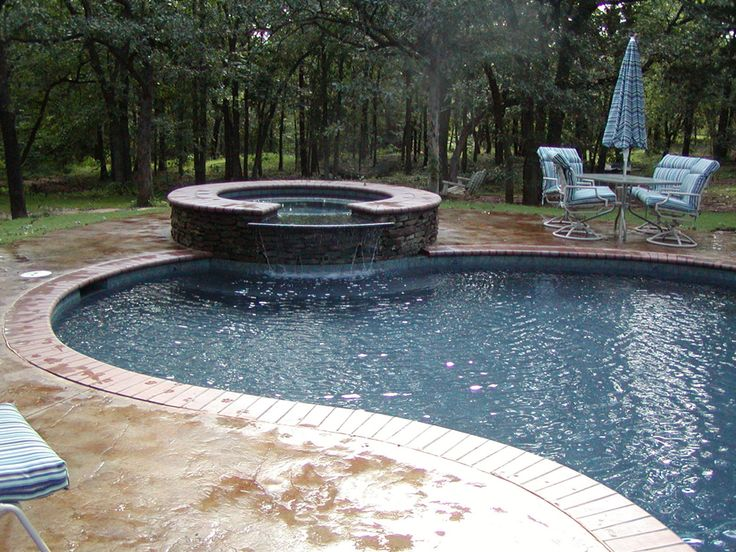 Hot Tub Water Feature Pool Home Is Pinterest Hot