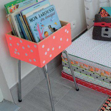 Créer une caisse de livres pour vos enfants / Kids room