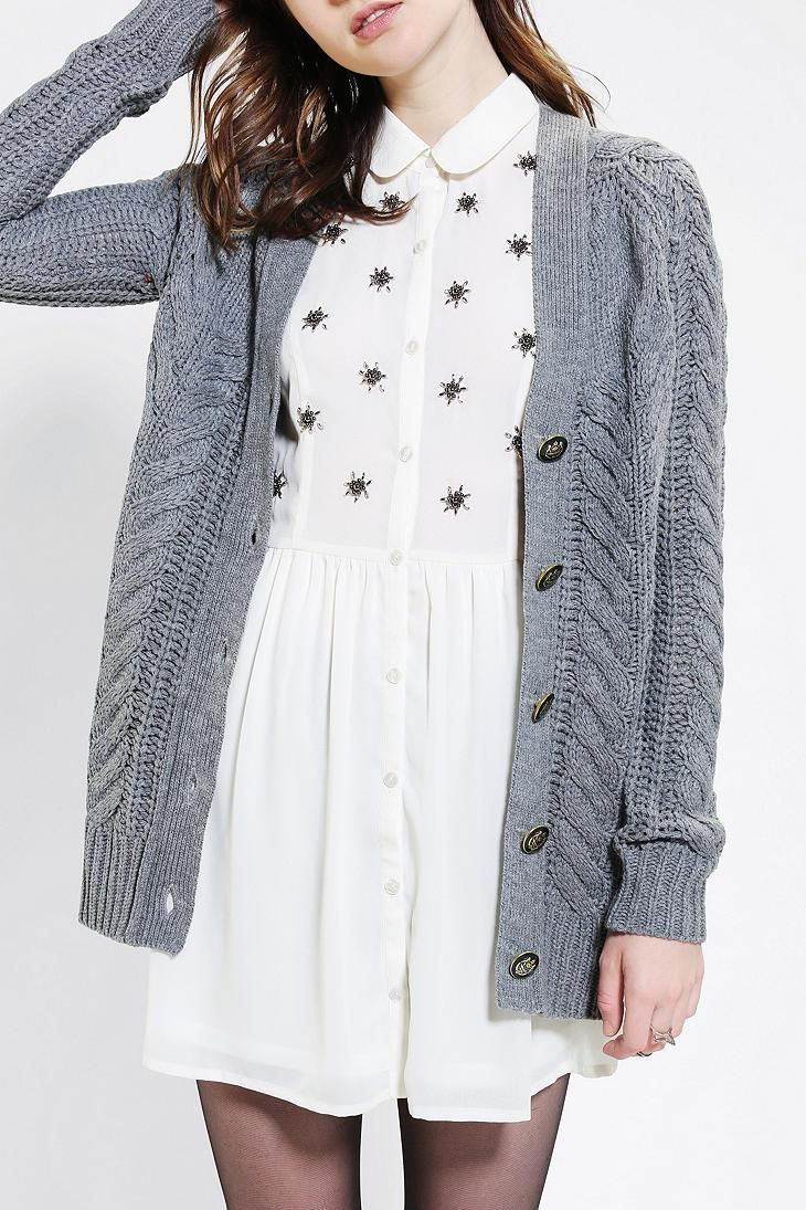 Perfect cable-knit cardigan from Ash Rain + Oak. #urbanoutfitters