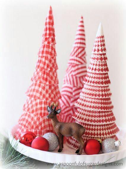 Aprende como hacer conos resistentes de cartón y usalos para crear fantásticas decoraciones navideñas. Son fáciles y además muy económicos ...