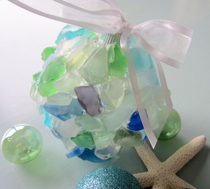 sea glass ornaments on pinterest flats clear ornaments and glass
