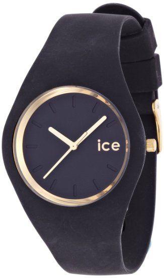 Ice-Watch - ICE.GL.BK.U.S.13 - Ice Glam - Black - Unisex - Montre Femme - Quartz Analogique - Cadran - Bracelet Silicone Noir: Amazon.fr: Mo...