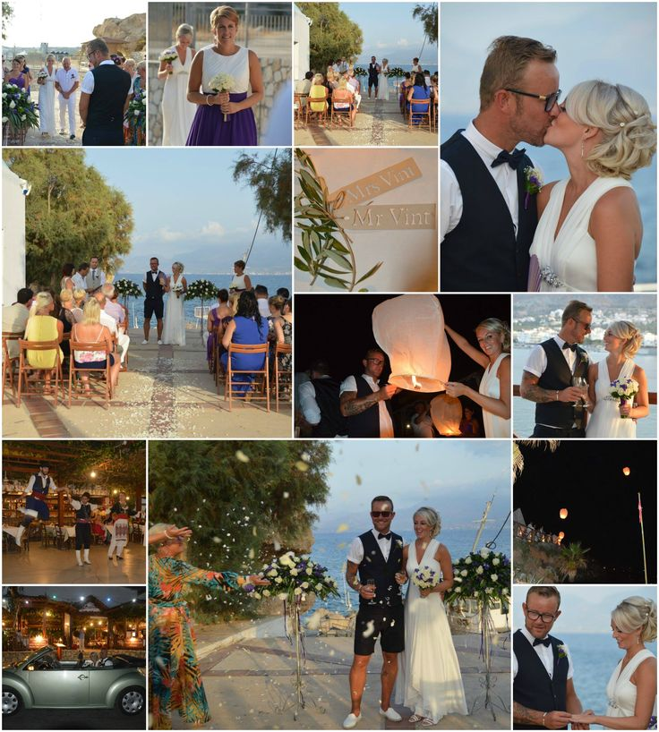 Wedding outside a chapel with sea views in Heraklion