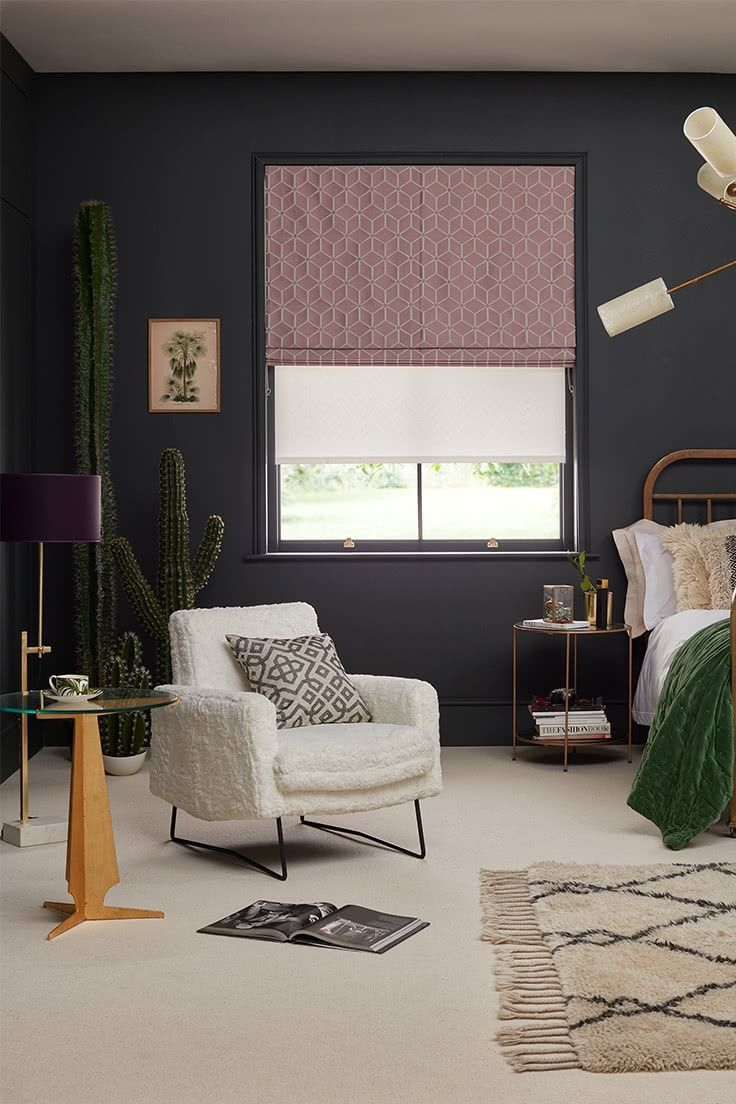 Urban Glamour Bedroom By Erica Davies Hillarys Roman Blinds Living Room Glamourous Bedroom Interior #roman #blinds #living #room