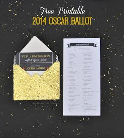 Make Life Lovely: 2014 Printable Oscar Ballot