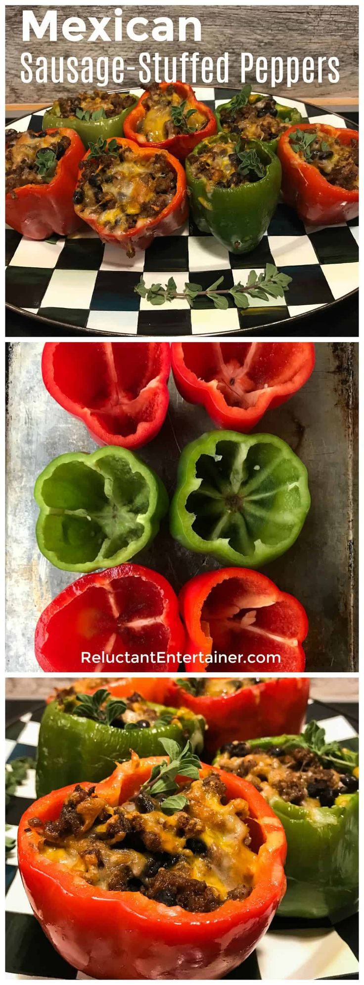 Mexican Sausage-Stuffed Peppers in partnership with Tyson