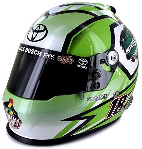 Kyle Busch 2017 Full Size Interstate Batteries Collectible NASCAR Replica Helmet  Size: 11.25 x 14.75 x 13 inches  Weight: 4.6 LBS  Collectible only - Not intended for use or to be worn.