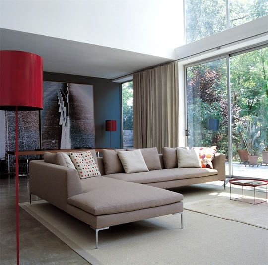 Perfect colour and Size Charles Sofa by B & B Italia