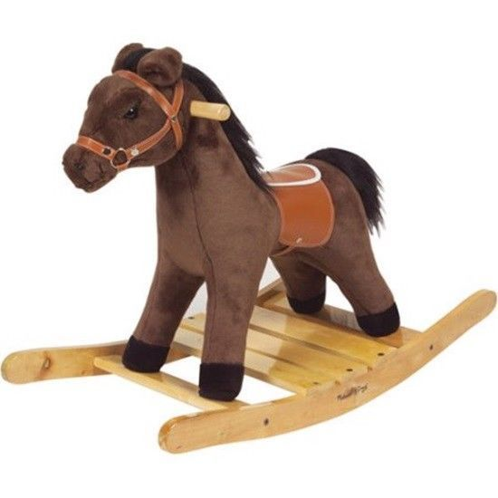 Brown Plush Toy Rocking Horse Ages 2+ Handsome & Huggable Cowboys And Cowgirls  #MelissaDoug