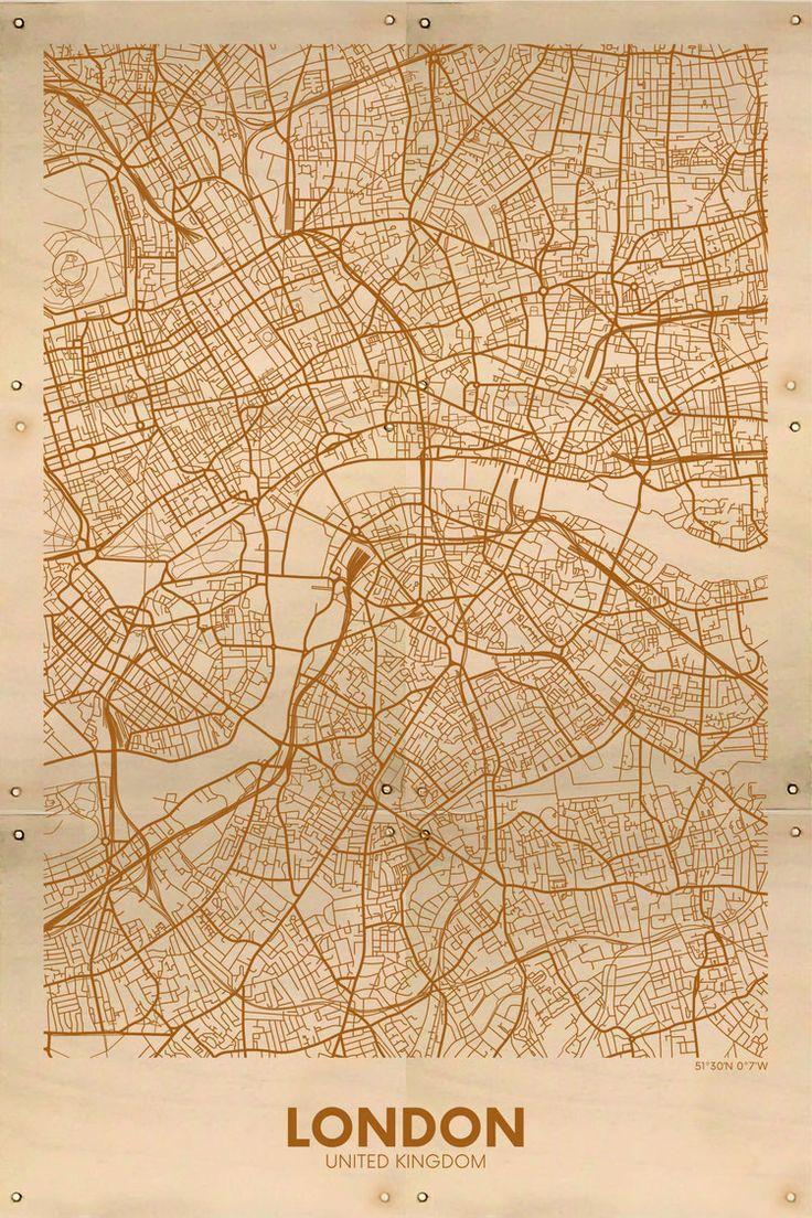 Kaart Londen 40x60