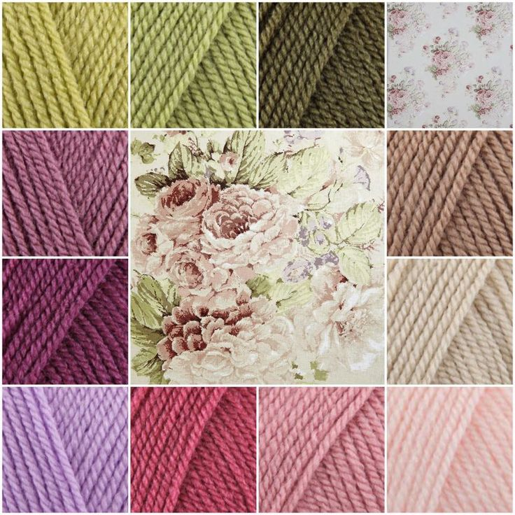 Lovely vintage color inspiration with Stylecraft Special DK
