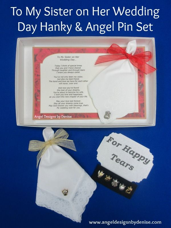 To My Sister on Her Wedding Day Gift Set makes a perfect gift to give ...