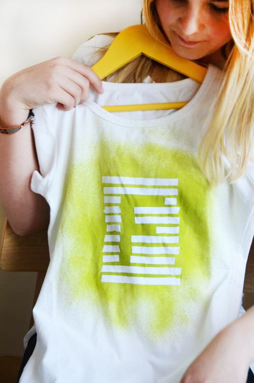 Make Spray Paint Tees | willowday