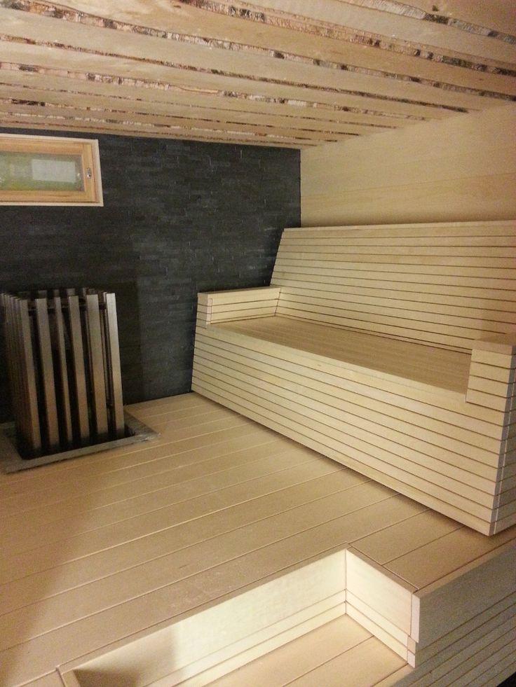 Customer's sauna.