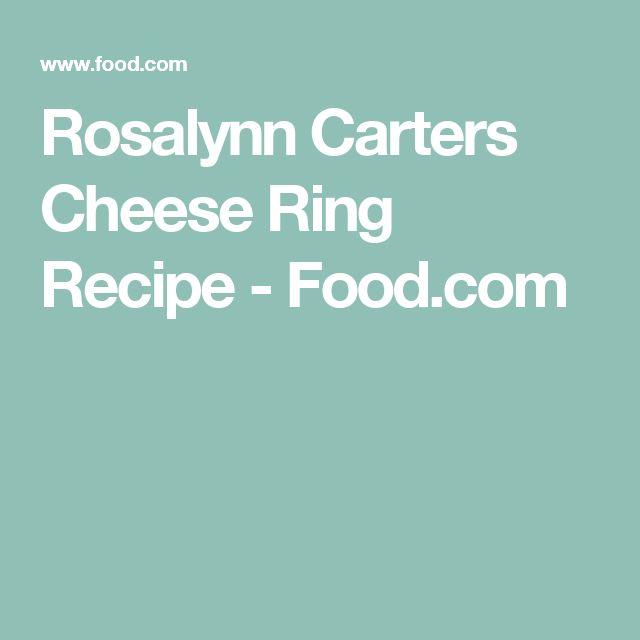 Rosalynn Carters Cheese Ring Recipe - Food.com