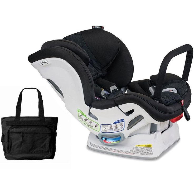 Britax Boulevard ClickTight Anti-Rebound Bar Convertible Car Seat - Circa with Stylish Black Diaper Bag. The Boulevard ClickTight Anti-Rebound Bar (ARB) features the revolutionary ClickTight Installation System, leaving you with no doubt the seat is correctly installed. It?s as simple as buckling a seatbelt. Just open the front of the seat, feed the seatbelt through the indicated path, buckle it, click the seat shut, and secure the tether. Britax designed the Boulevard ClickTight...