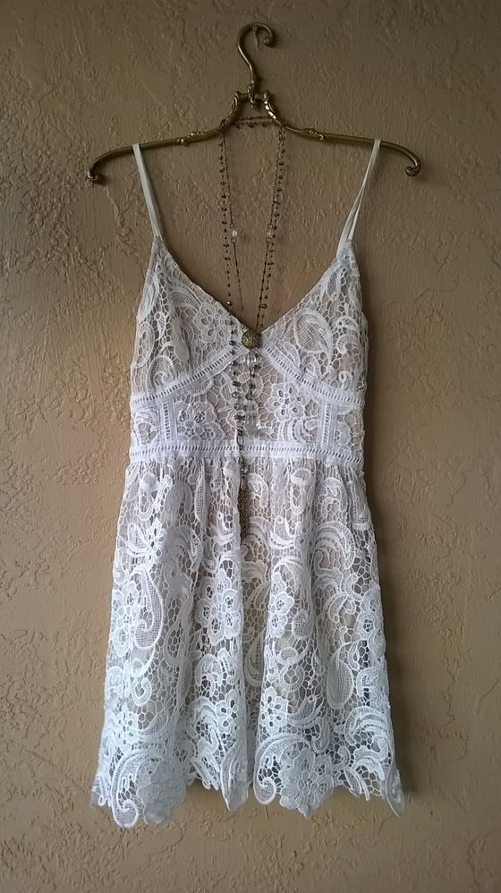 Image of Kimchi & Blue Bustier front lace and crochet eyelash lace hem dress for night out