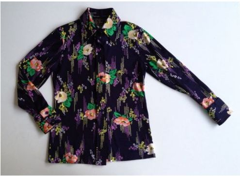 A 70s shirt I got from Ebay featured in my You Tube video - Kitty's Vintage Fashion Haul's - Arrived This Week 24 March 2014