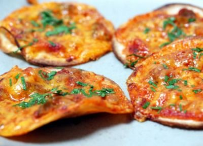 Pizza on Tortilla Chips :)