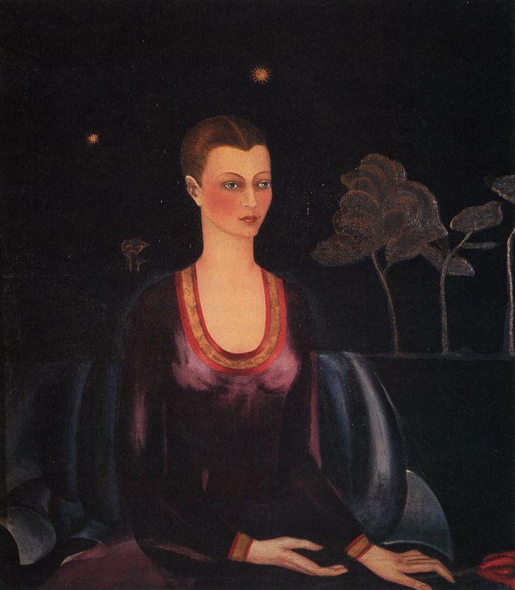 Retrato de Alicia Galant. FRIDA KAHLO. Cd. de México. (1907-1954). 1927. Óleo sobre lienzo. 97 x 84 cm. - Museo Dolores Olmedo.