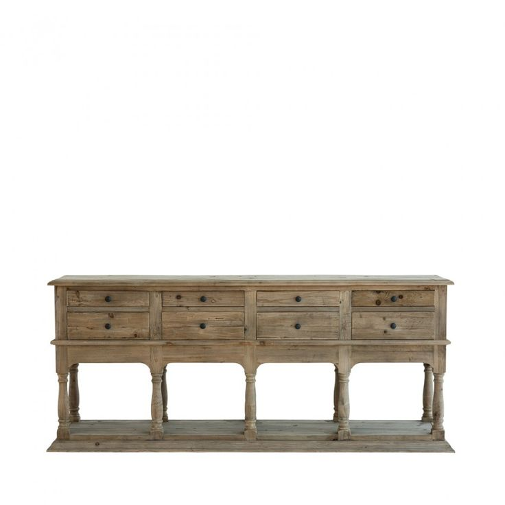 Made from rustic reclaimed timber the montreal drawer console adds natural charm to a dining