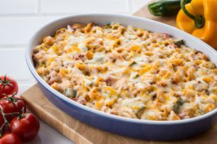 The deliciousness of a taco in a comforting pasta casserole.