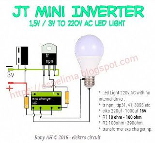 skema joule thief mini inverter 220v ac