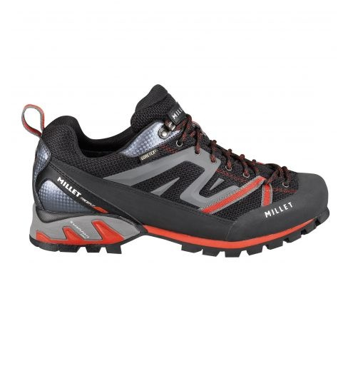 Trident Gore-Tex  Millet men shoes for alpinism and climbing.  Modern, three-season alpine approach boot: precise, dynamic and lightweight. Ideal for reaching foot of major rocky routes and cliffs. Effective for easy climbs, via ferrata and fast walking with elevation change.