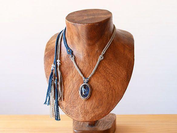 カイヤナイト 天然石ネックレス