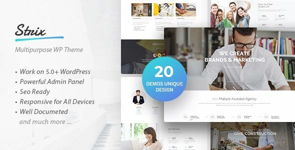 Strix – Multipurpose Business & Agency WordPress Theme    Description Strix is M…