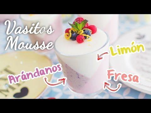 Mousse de Limón, Fresa y Arándanos | Postre sin horno | Quiero Cupcakes! - YouTube