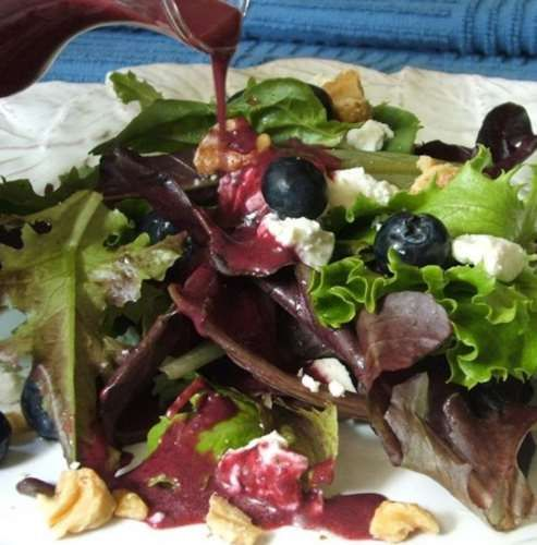 Green Apple Salad With Blueberries, Feta And Walnuts