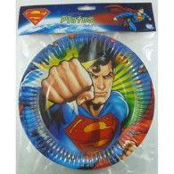 Superman Paper Plates Pkt8 $8.95 A069933
