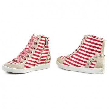 Sneakersy LIU JO - Sneaker Alta Rita S15145 T8078  Bianco/Rosso 00018