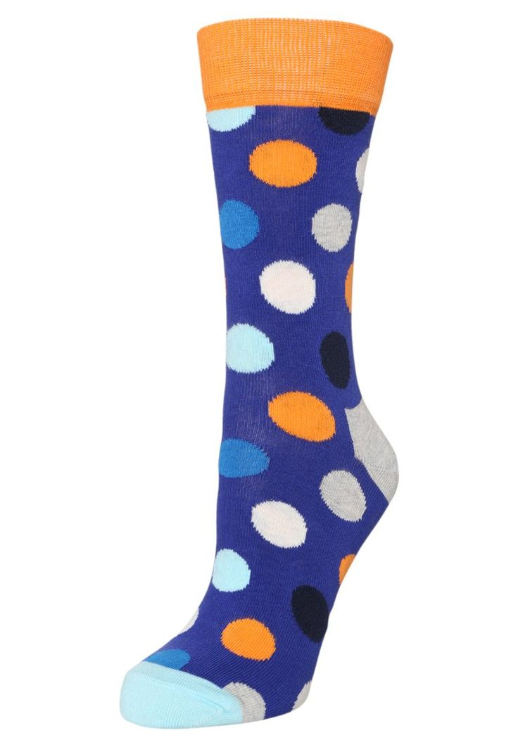 Happy Socks Skarpety niebieskie w kropki lilac