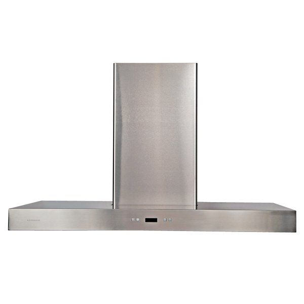 The Cavaliere 36 900 Cfm Stainless Steel Island Mount Range Hood Is Creatively Designed To Offer The Right Mix Island Range Hood Modern Range Hood Range Hood