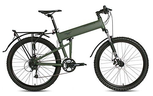 """2016 Montague Paratrooper MTB 18"""" Cammy Green 24 Speed Folding Mountain Bike *** Check out this great product."""